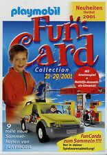 Prospekt Playmobil Neuheiten Herbst 2001 Fun-Card kl. Posterprospekt Spielzeug