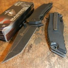 USMC MARINES Spring Assisted Open OFFICIALLY LICENSED Folding Blade Pocket Knife