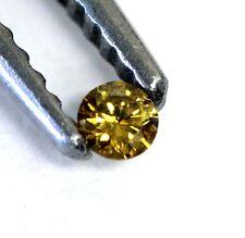 loose individual round diamond melee 2.0mm VS1 yellow 0.03ct vintage estate