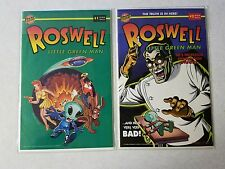 Roswell little green man Bongo #1 and #3 1996 comic lot
