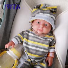 IVITA 46cm Full Body Solid Silicone Reborn Baby Girl Doll 2972g Newborn 1pc Gift