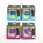 Atomic 9 Selfie Flash Set of 4 Blue & Purple Rechargeable 3 Light Settings