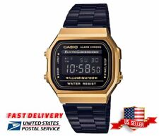 New Retro Casio Vintage Collection Black Gold Digital Retro Watch A168WEGB-1BDF