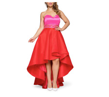 MAC DUGGAL STRAPLESS COLOR-BLOCK HIGH/LOW GOWN DRESS sz 18W