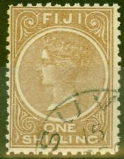 Fiji 1897 1s Brown SG68 Fine Used
