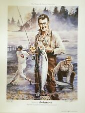 Arthur Miller Tribute to Ted Williams signed print #136/400 Baseball Legend fish