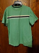 New listing Cherokee Boys Youth Teen Green Blue Rugby type Stripe T Shirt Size XL