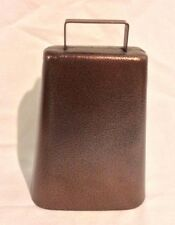 "Cow Bell 7"" Decorative Steel with Handle and Antique Copper Finish Musical"