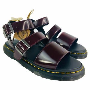 Dr Martens GRYPHON Vegan Leather Sandals Burgundy 13 US Men EU 47 UK 12