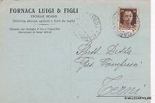 # FICULLE SCALO: testatina - FORNACA LUIGI & FIGLI - attrezzi agricoli  1943