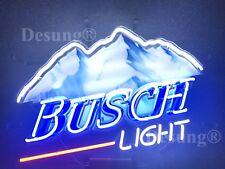 "New Busch Light Mountain Beer Neon Light Sign 19"" Hd Vivid Printing Technology"