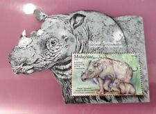 Malaysia 2019 Wildlife Conservation Sumatran Rhinoceros Rhino Badak MNH MS STAMP