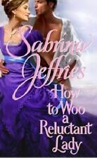 How to Woo a Reluctant Lady by Sabrina Jeffries Hellions of Halstead Hall VG PB