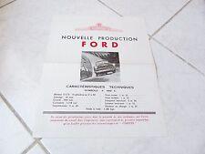 Ford Vedette 1949 hoja catálogo folleto folleto ventas comerciales prospekt