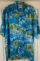 Third Rail Vintage Mens Hawaiian Gorgeous Floral Mesh Shirt XL Cabana Cruise