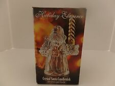 St George Holiday Elegance 24%Crystal Glass Christmas Santa Claus Candle Holder