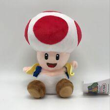 """New Super Mario Bros. U Plush Red Toad Soft Toy Stuffed Animal Doll Teddy 7"""""""