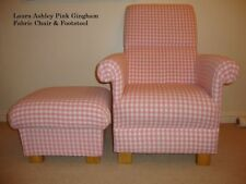 Fabric Checked Armchairs