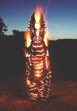 FEUERDRACHE 123cm Feuerkorb Feuersäule Drache Edelrost Rost Holzkohle Feuer