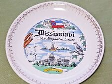 Paden City Pottery Co. Mississippi State Plate (Very Rare) - c. 1952