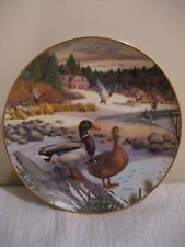 """The Edwin M. Knowles fine china co. plate by bart jerner """" the mallard """" 1986"""