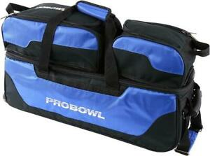 Pro Bowl 3 Ball Tote Roller Bowling Ball Bag - Blue/Black
