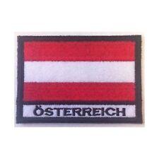 [Patch] BANDIERA AUSTRIA cm 7 x 5 toppa ricamata ricamo ÖSTERREICH -235