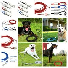 Cable Leash Pet Tie Out Strong Long Run Cord Heavy Duty Steel Dog Accessories