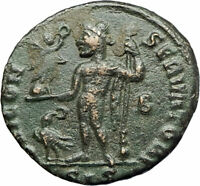 LICINIUS I 313AD Genuine Ancient Roman Coin JUPITER EAGLE VICTORY i76680