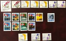 CANADA 2004-05 DEFINITIVE USED STAMPS- FLOWERS COILS & BOOKLET & FLAG BOOKLETS