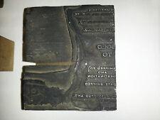 Sold-to Order & Shipping Print Block Metal Wood base [1492]