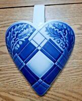 HEART WALL POCKET VASE Holly Decor # 9205 Bing & Grondahl Royal Copenhagen