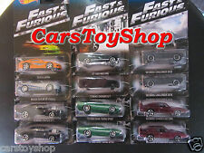Fast & Furious set 12 Hot Wheels Toyota Supra Skyline Ford Mustang Gran Torino