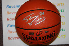 Shaquille Shaq O'Neal signed  Spalding Game Ball Series Basketball Mounted Holo