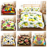 3D Pineapple Colorful Comforter/Duvet Cover Bedding Set Pillowcase Quilt Cover