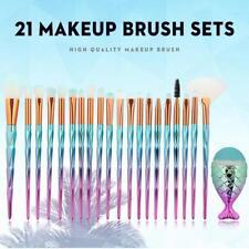 21 PCS Make Up Pinsel Set Kosmetik Schmink Meerjungfrau Brush Blaues Pulver