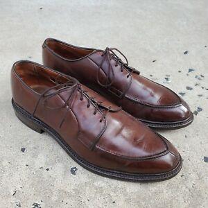Allen Edmonds SENECA Brown Leather Split-Toe Derby sz 8 D MENS US