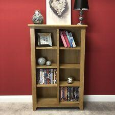 Linear Oak DVD Storage Unit / Bookcase / Solid Wood Bookshelf / Display Unit
