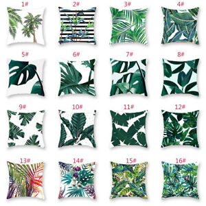 Outdoor Green Floral Leaf Cushion Ultra Soft Pillow Case Covers Home Decoration