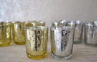 BULK BUY Mercury Glass Tea Light Holder SETS Candle Votive Wedding Centre piece