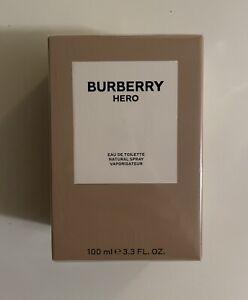 BURBERRY HERO EAU DE TOILETTE EDT 100ML 3.3FL.OZ. NIB NEW COLOGNE FOR MEN