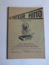 livret d' entretien et utilisation cyclo : le moteur HIMO en reproduction