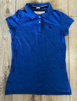 Women's Abercrombie & Fitch T Shirt Blue Large Stretch Cotton Blend SLIM