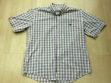 Barbour Check Cotton Short Sleeve Shirt Size Extra Large Regular Fit