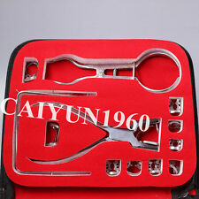 Dental Rubber Dam Kit Set 12 Pieces Dental Filling Instruments Set for sale FDA