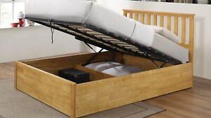 Oak Storage Double Bed