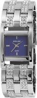 Excellanc Damenuhr Blau Silber Strass Analog Metall Armbanduhr X152423000018