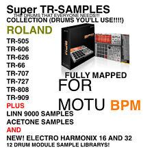 Super TR-Sample Library 12 Sets für MOTU BPM 1.0 1.5 und machfive 2 3
