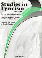 Studies in Lyricism for Viola, ed. Doris Gazda BF45