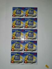 10 X SONY  MDW-74 PREMIUM DIGITAL AUDIO MINIDISC SHOCK PROOF RECORDABLE SEALED.